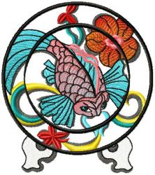 Chinese Plate embroidery Design 01
