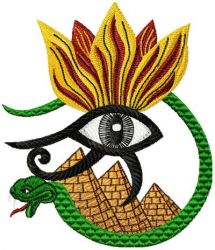 Horus Eye embroidery designs 002