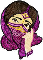 Arabic Beauty 003 embroidery designs
