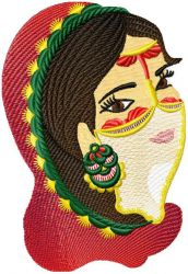 Arabic Beauty 005 embroidery designs