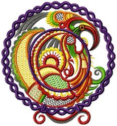 Chinese Plate embroidery Design 07