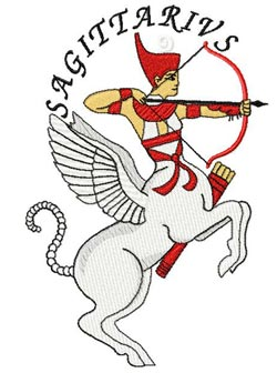 Neith is Sagittarius embroidery design