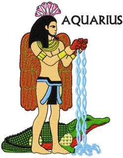Hapi and Sobek is Aquarius embroidery design
