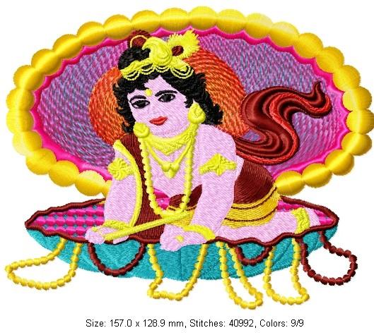 Embroidery Designs Lord Krishna Ausbeta