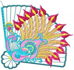 oriental fans applique 001