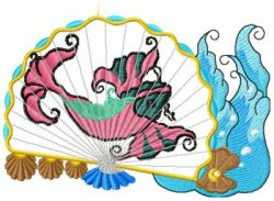 oriental fans applique 002