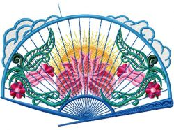 oriental fans applique 005