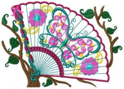 Oriental Fans Applique Set