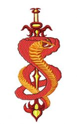 chineseSword005 embroidery design