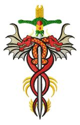 chinese sword 008 embroidery designs
