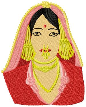 IndianBeauty005 embroidery design