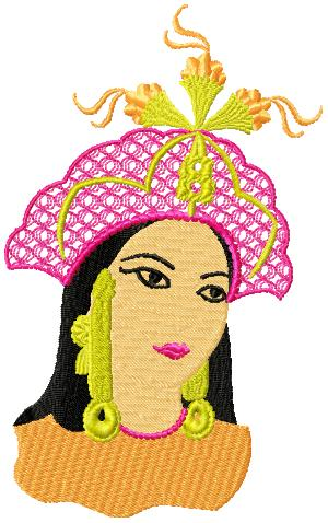 IndianBeauty006 embroidery design