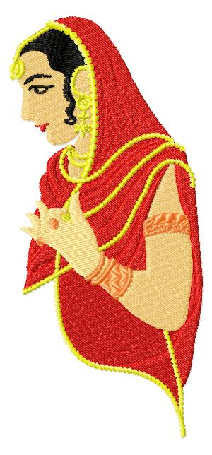 IndianBeauty008 embroidery design