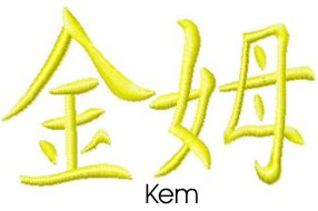 Kem embroidery design