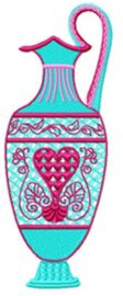 orientalvases002 embroidery design