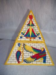 3D Pyramid Box embroidery design
