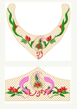 Necklace&Bracelet007 embroidery design