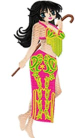 Arabic Bellydance anime001 embroidery design