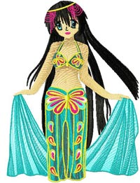 Arabic Bellydance anime003 embroidery design