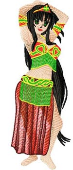 Arabic Bellydance anime005 embroidery design
