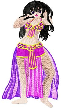 Arabic Bellydance anime009 embroidery design