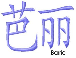 Barrie embroidery design