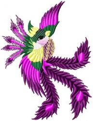 Chinese Bird embroidery designs 002