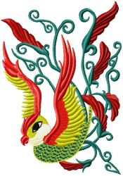 Chinese Bird embroidery designs 004