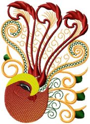 Chinese Bird embroidery designs 006