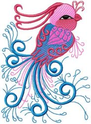 Chinese Bird embroidery designs 007