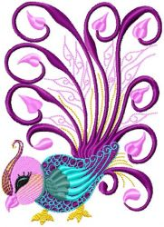 Chinese Bird embroidery designs 008