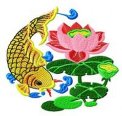 Chinese Fish 004 embroidery design