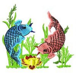 Chinese Fish 007 embroidery design