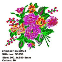 Chinese Flower 003 embroidery design