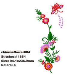 Chinese Flower 004 embroidery design