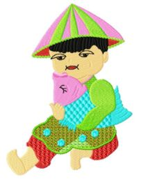 Chinesekids005 embroidery design