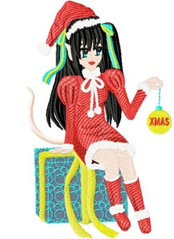 Christmas Anime 004 embroidery design