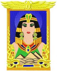 Queen Cleopatra VII embroidery design