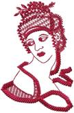 Cleopatra By Micheal Anglo embroidery design
