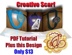 Creative Scarf Project + Arabic Ornament 001