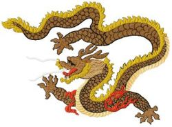 Creative Chinese Dragons embroidery set 2