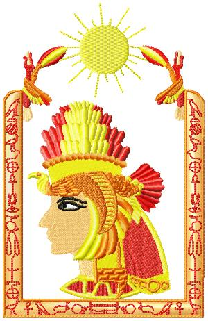 egyptianscenes007 embroidery design