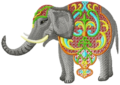 Indian Elephants Collection embroidery design
