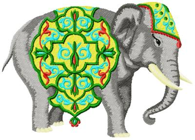 Elephant002 embroidery design