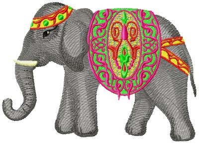 Elephant003 embroidery design