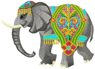Elephant005 embroidery design