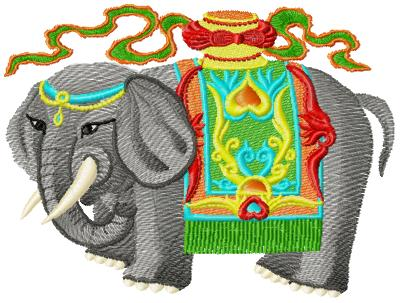 Elephant006 embroidery design