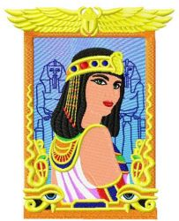 Queen Hatshepsut embroidery design