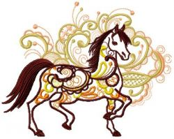 Arabic Horse 005 embroidery design