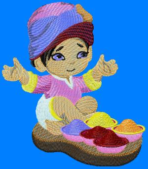 indianboy004 embroidery design